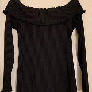 Like New, Black Sweater Off The Shoulder Dress*